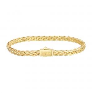 14K Gold 4.5Mm Woven Bracelet