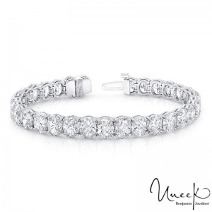 Uneek Tennis Bracelet, in 18K White Gold