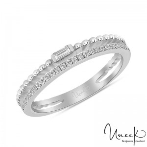 Uneek Wedding Band, in 14K White Gold