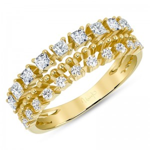 Uneek Diamond Fashion Ring, in 14K Yellow Gold