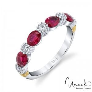 Uneek Ruby Fashion Ring, in 18K White Gold