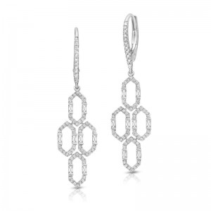 Uneek Dangling Diamond Earring, in 18K White Gold - LVEAD482W