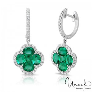 Uneek Earring, in 18K White Gold