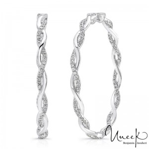 Uneek Earring, in 14K White Gold