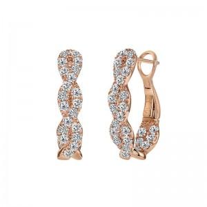 Uneek Diamond Earrings, in 14K Rose Gold
