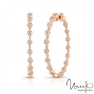 Uneek Earring, in 14K Rose Gold