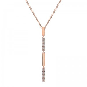 Uneek Diamond Necklace, in 18K Rose Gold - LVNAS1827R