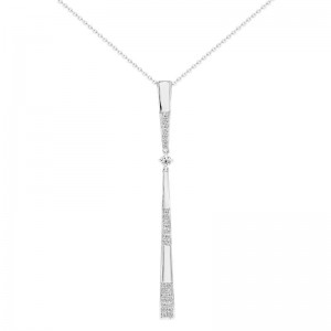Uneek Diamond Necklace, in 18K White Gold - LVNAS3025W