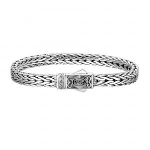 Silver 7Mm Square Woven Bracelet