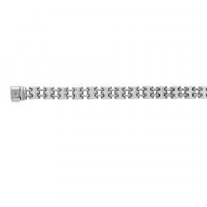 Silver Square Panther Link Bracelet