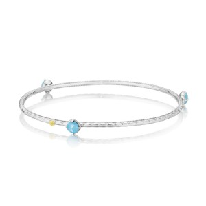 Color Pop Trio Bangle featuring Neo-Turquoise