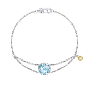 Split Chain Bracelet featuring Sky Blue Topaz