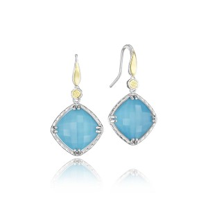 Solitaire Gem Drop Earrings featuring Neo-Turquoise