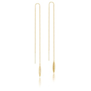 Pavé Surfboard Thread Earring