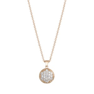Dew Drop Pendant featuring Pavé Diamonds