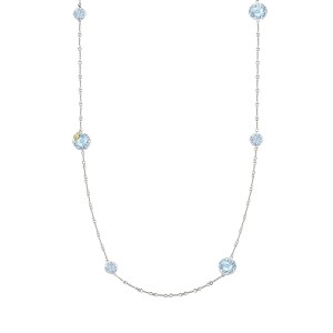 Gem Drops Necklace featuring Sky Blue Topaz