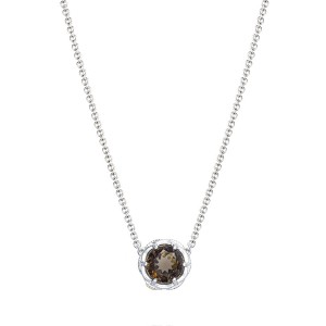 Crescent Station Necklace featuring Cognac Quartz