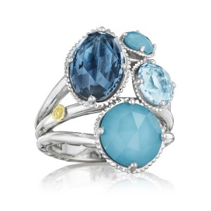 Precious Cluster Ring featuring Assorted Gemstones