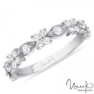 Uneek Diamond Wedding Band, in 14K White Gold